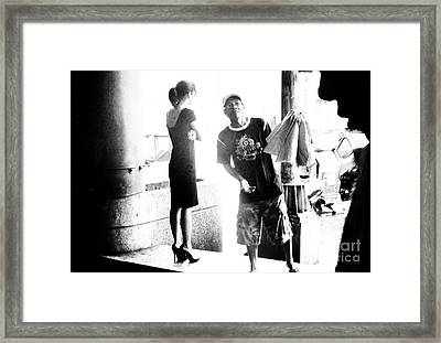 Trio Of Thinkers Framed Print by Tina M Wenger