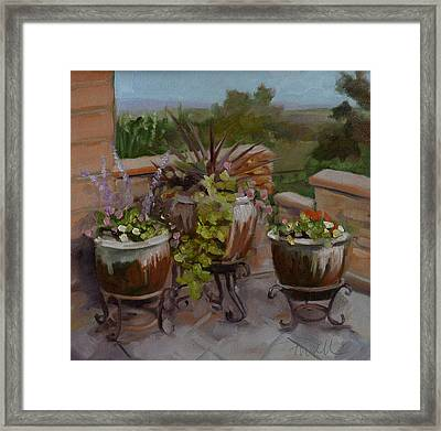 Framed Print featuring the painting Trio by Pattie Wall