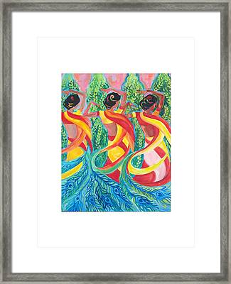 Framed Print featuring the painting Trio by Suzanne Silvir