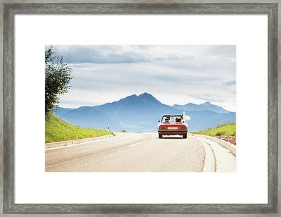 Trip In A Cabriolet Framed Print by Angiephotos