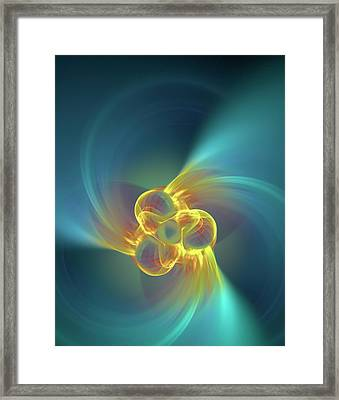 Triple Alpha Nuclear Fusion Framed Print by David Parker