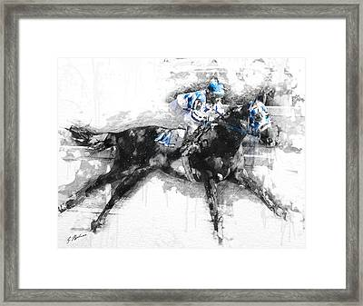 Secretariat Triple Crown 73 Framed Print by Gary Bodnar