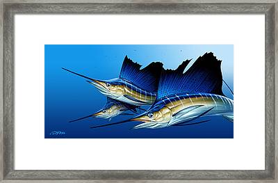 Triple Framed Print by Dennis Friel