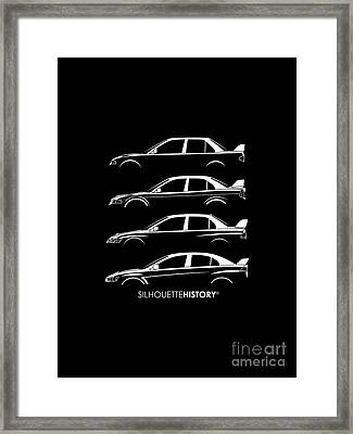 Triple Diamonds Silhouettehistory Framed Print