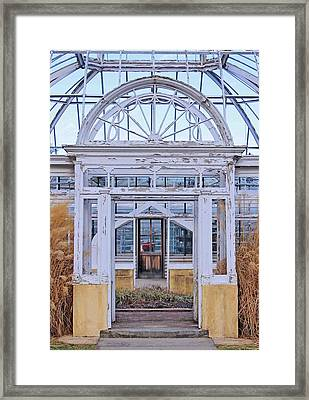 Triple Doorways Framed Print