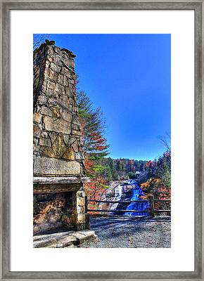 Triple Falls 2 Framed Print