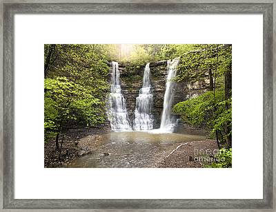 Triple Falls Framed Print by Brandon Alms