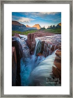 Triple Falls Cascades Framed Print