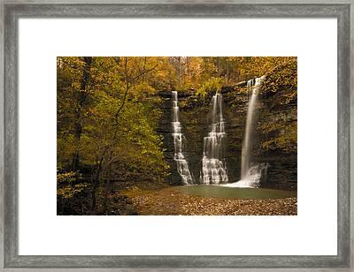 Triple Falls Framed Print by Ryan Heffron