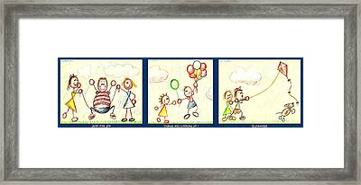 Triple Fun Framed Print by Cristophers Dream Artistry