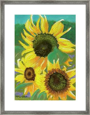 Framed Print featuring the painting Triple Gold by Arlene Crafton
