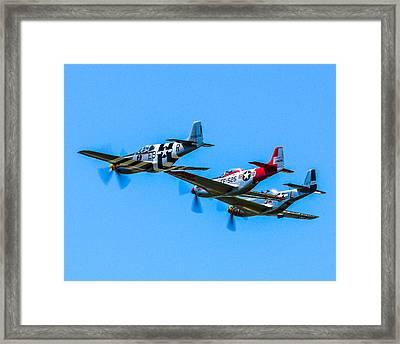 Triple Mustangs Framed Print by Puget  Exposure