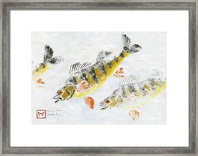 Triple Perch Framed Print