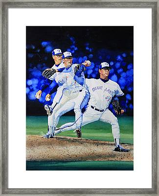 Triple Play Framed Print