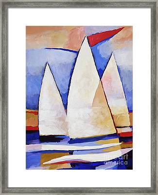 Triple Sails Framed Print by Lutz Baar