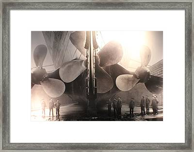 Triple Screws Framed Print