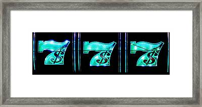 Triple Sevens Framed Print by Benjamin Yeager