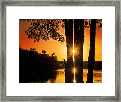 Triple Sunburst Morning Framed Print