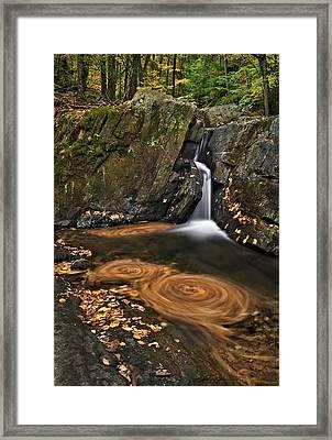 Triple Swirls Framed Print by Susan Candelario