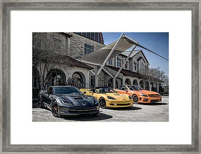 Triple Threat Framed Print by Douglas Pittman