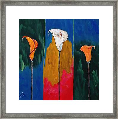 Triplets - Triptych Painting Original Framed Print