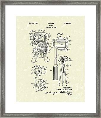 Tripod 1940 Patent Art Framed Print