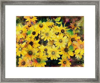 Trippin In The Garden Framed Print by Bill Cannon