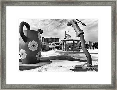 Tripping In Asbury Park Mono Framed Print by John Rizzuto