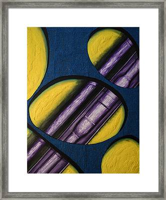 Tripping Pipe Framed Print