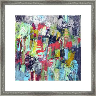 Framed Print featuring the painting Trippy by Katie Black