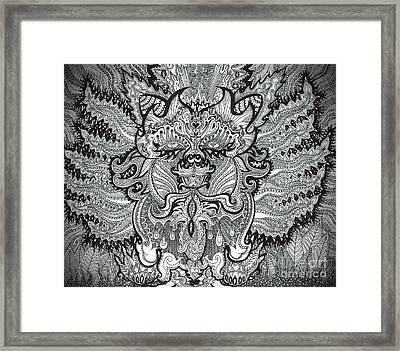 Trippy Kitty Framed Print