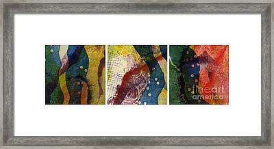 Triptic Framed Print by Kelley Albert