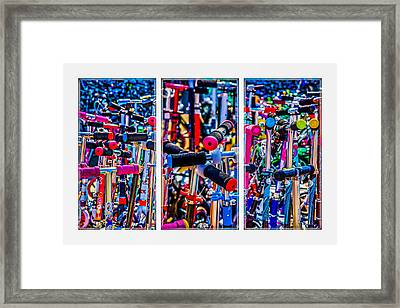 Triptych - High Time To Buy A Scooter Framed Print by Alexander Senin