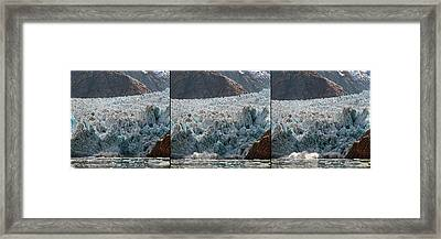 Triptych Of Sawyer Glacier, Southeast Framed Print by Panoramic Images
