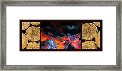 Triptych - Warming Up Framed Print
