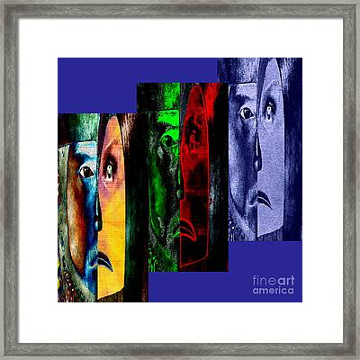 Framed Print featuring the digital art Triptychon Paerchen II - Triptych Couple II by Mojo Mendiola