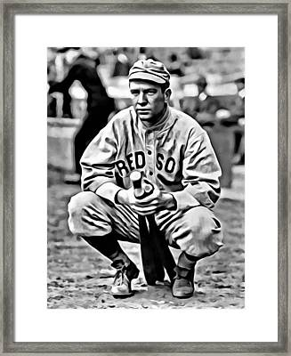 Tris Speaker Framed Print by Florian Rodarte