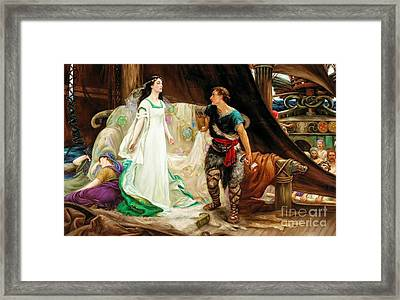 Tristan And Isolde Framed Print by Celestial Images