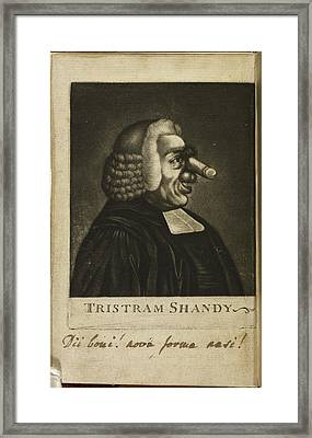 Tristram Shandy By Laurence Sterne Framed Print by British Library