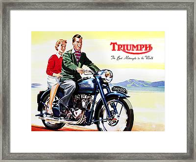 Triumph 1953 Framed Print by Mark Rogan