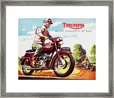 Triumph 1958 Framed Print by Mark Rogan