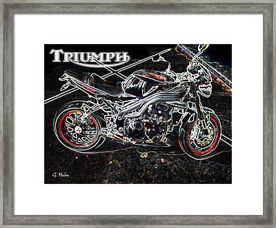 Triumph Abstract Framed Print by George Pedro