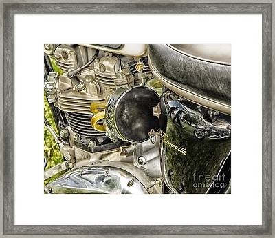 Framed Print featuring the photograph Triumph Bonneville by JRP Photography