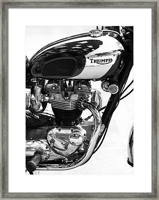 Triumph Bonneville Framed Print by Tim Gainey