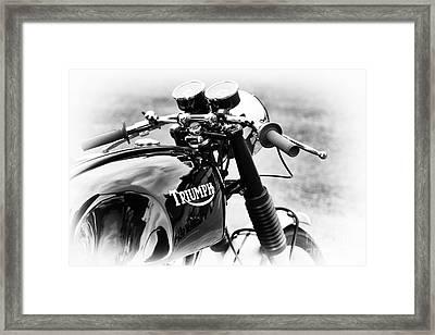 Triumph Cafe Racer Framed Print