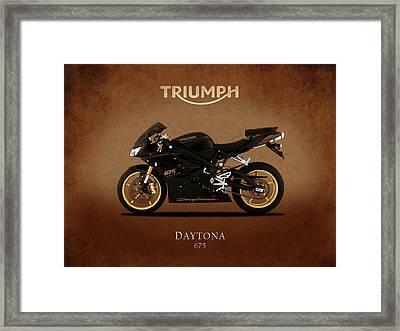 Triumph Daytona 675 Framed Print by Mark Rogan