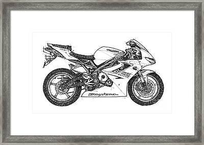 Triumph Daytona Framed Print by Pablo Franchi