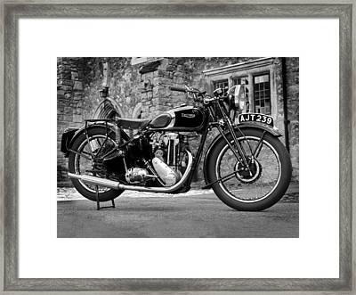 Triumph De Luxe 1939 Framed Print by Mark Rogan