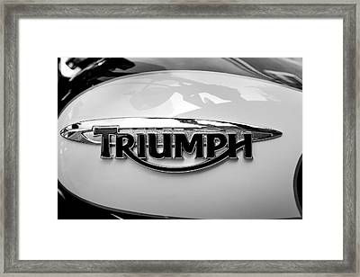 Triumph Fuel Tank Framed Print by Steve Gravano