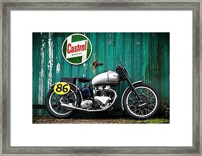 Triumph Grand Prix 1949 Framed Print by Mark Rogan